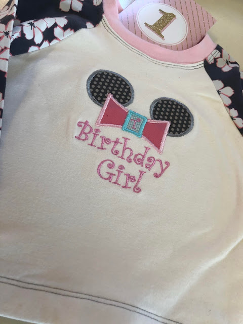 Premier +2 Create birthday shirt with appliques, fun font.  The design was used to make a toddler Raglan shirt from Kwik Sew Sewing for Toddlers