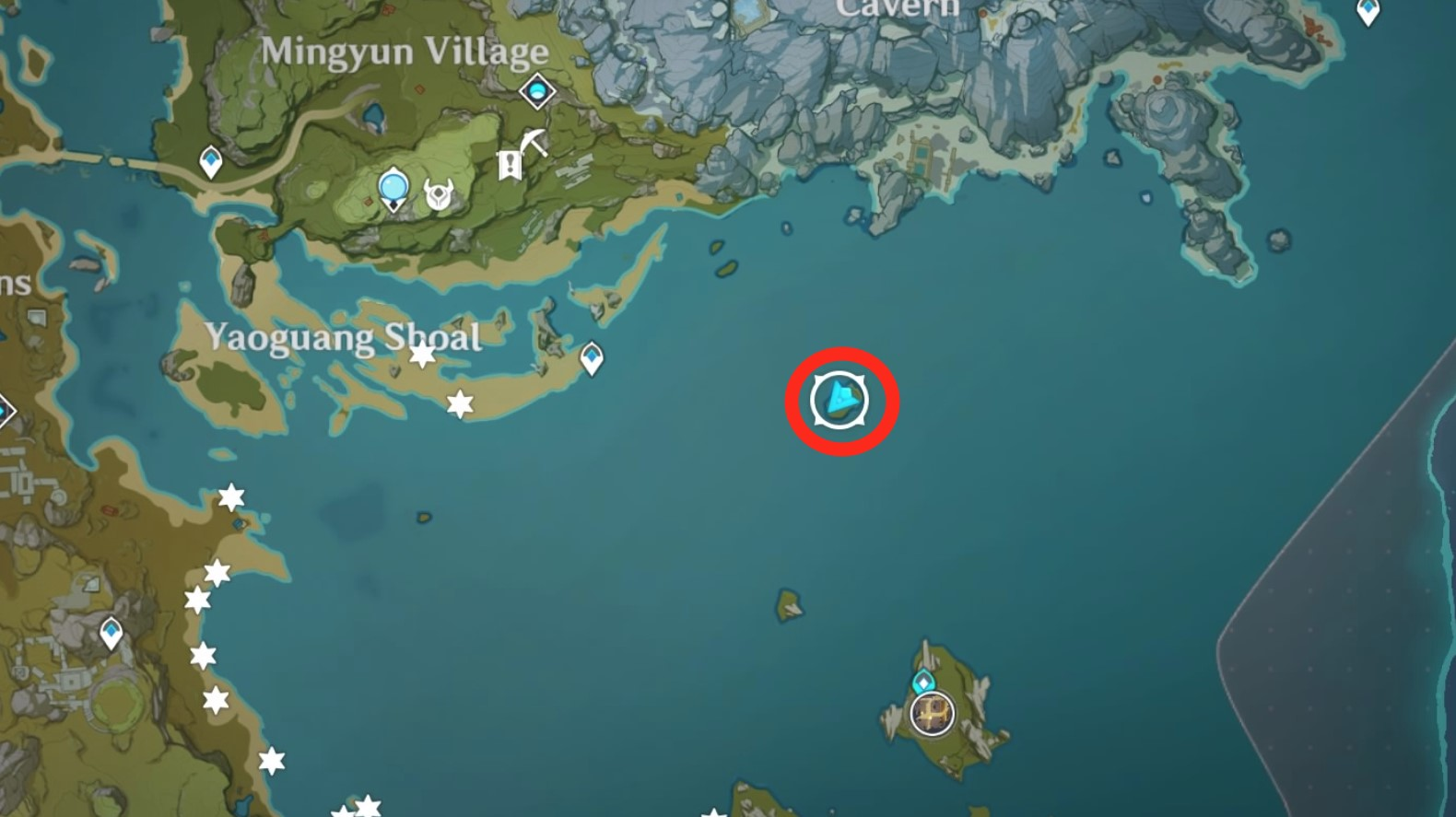 Where is the island with the heart