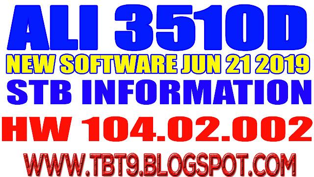 ALI3510D HARDWARE 104.02.002 POWERVU TEN SPORTS OK NEW SOFTWARE