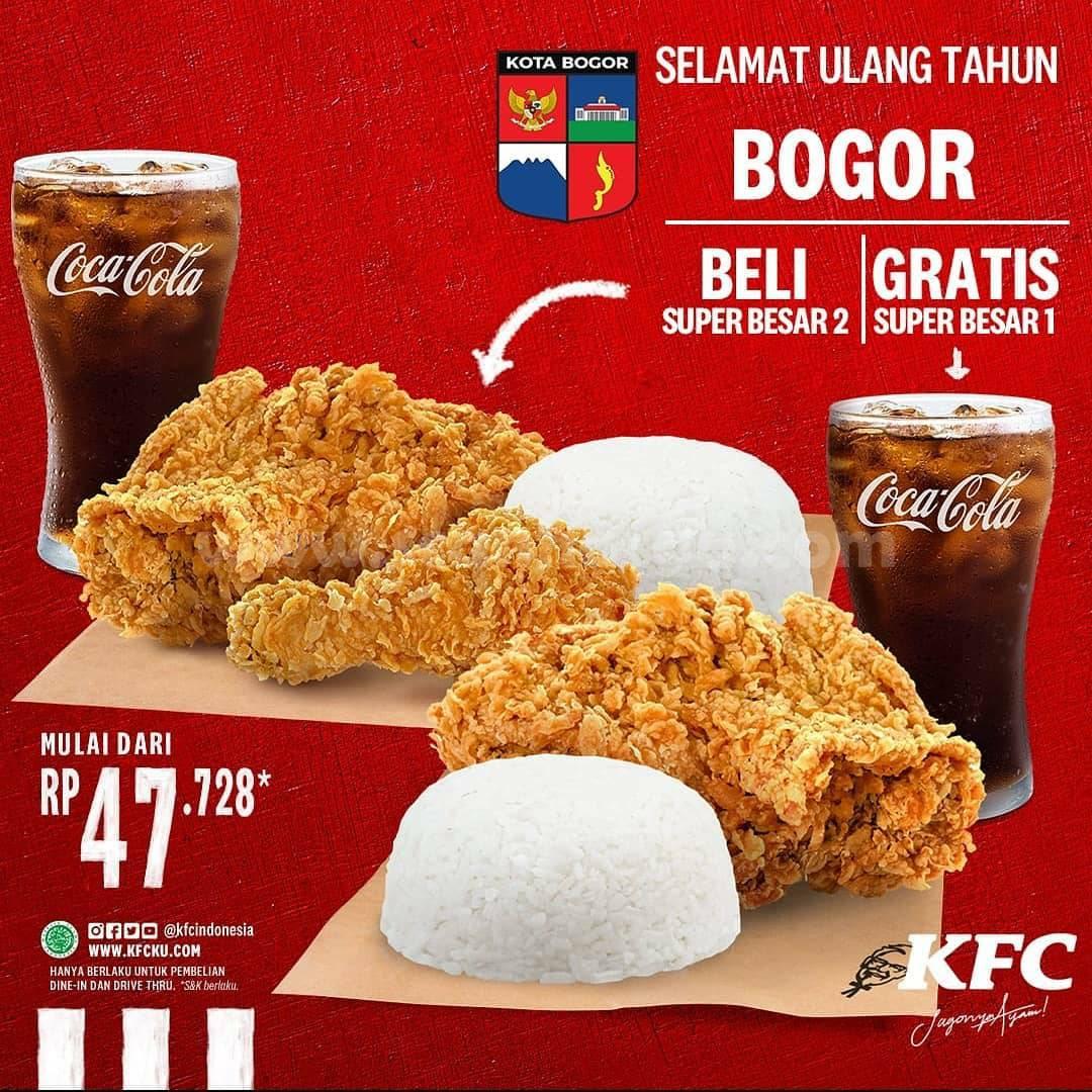 Promo KFC HUT Kota Bogor - Beli 1 Gratis 1