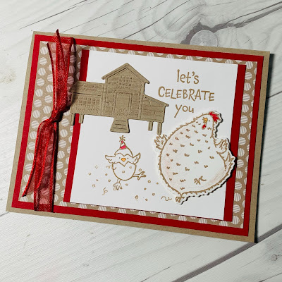 Birthday Card using images from Stampin' Up! Hey Birthday Chick Stamp Set