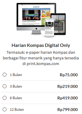Subcribe Harian Kompas Digital Only