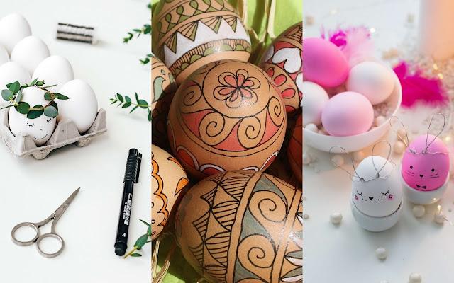 Eieren versieren met stift
