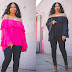 SWEENEE'S ITEM OF THE WEEK - Off The Shoulder Top - Black & Fuchsia
