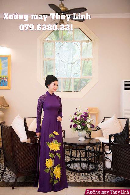 Các mẫu áo dài dành cho mẹ cô dâu chú rể