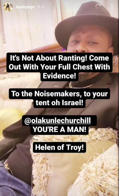 'You're a man' -Tonto Dikeh ex-lover Prince Kpokpogri hails her ex-husband Olakunle Churchill 24 hours after they broke up