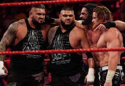Raw AOP Seth Rollins Black Alastair Buddy Murphy Faction