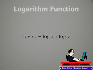 Top 10 Mathematical Equations That Changed The World-World-Logarithm-Function