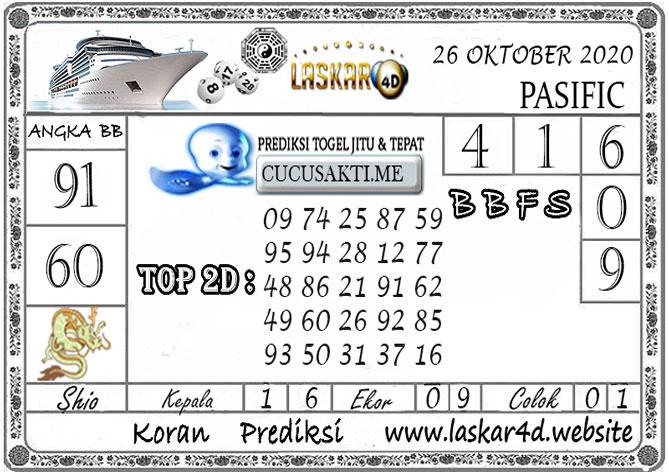 Prediksi Togel PASIFIC LASKAR4D 26 OKTOBER 2020