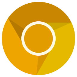 preview of golden google Chrome icon