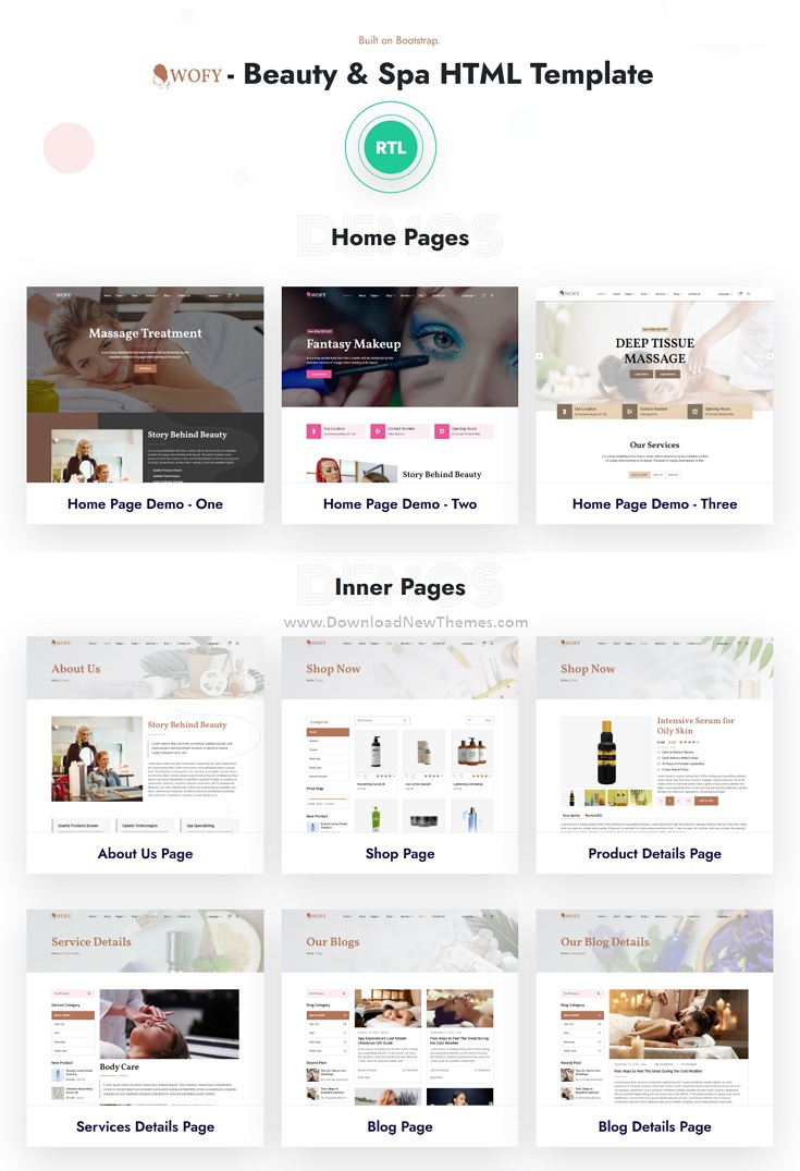 Beauty & Spa Bootstrap Template
