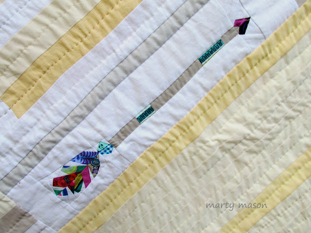 stars and arrow quilt - pieced and hand quilted - marty mason
