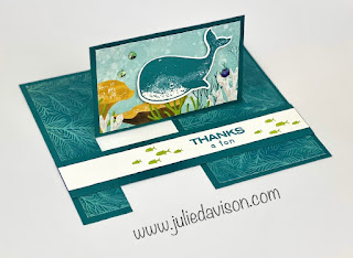 Stampin' Up! Whale Done Impossible Card + Video Tutorial ~ www.juliedavison.com #stampinup #funfold