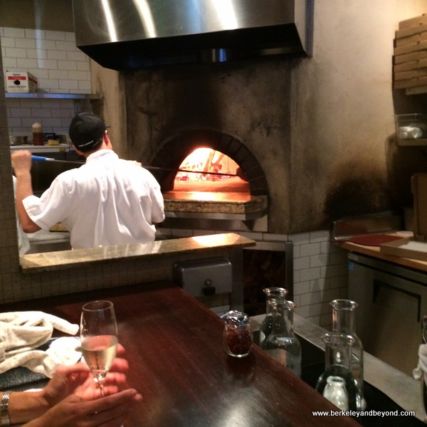 wood-burning pizza oven at Pizzeria Picco in Larkspur, California