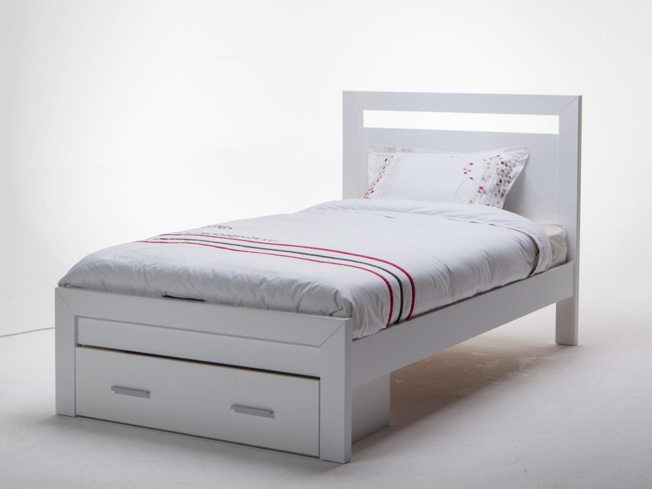 giường gỗ 1m, giường ngủ 1m gỗ công nghiệp