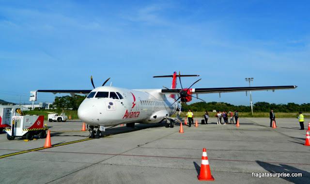 Voo para Tikal, Guatemala. Aeroporto de Flores