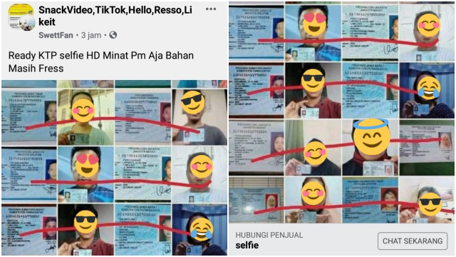 Warganet Kaget Ada Deretan Foto Selfie dengan KTP Dijual di Internet