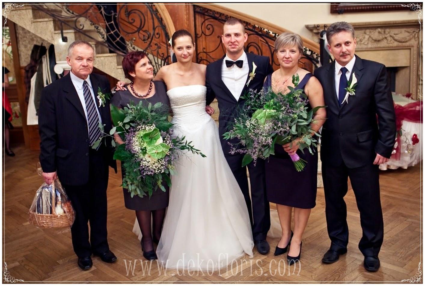 ślubne bukiety - podziekowania dla rodziców opolskie Dobrzeń