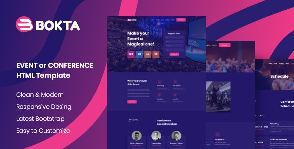 Event & Conference Website Template