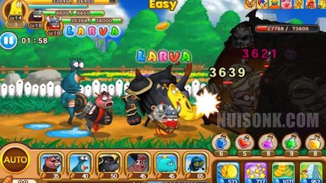 Fitur Game Larva Heroes Mod Apk