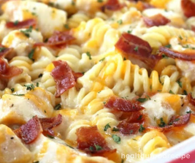 HOMEMADE CHICKEN BACON RANCH CASSEROLE