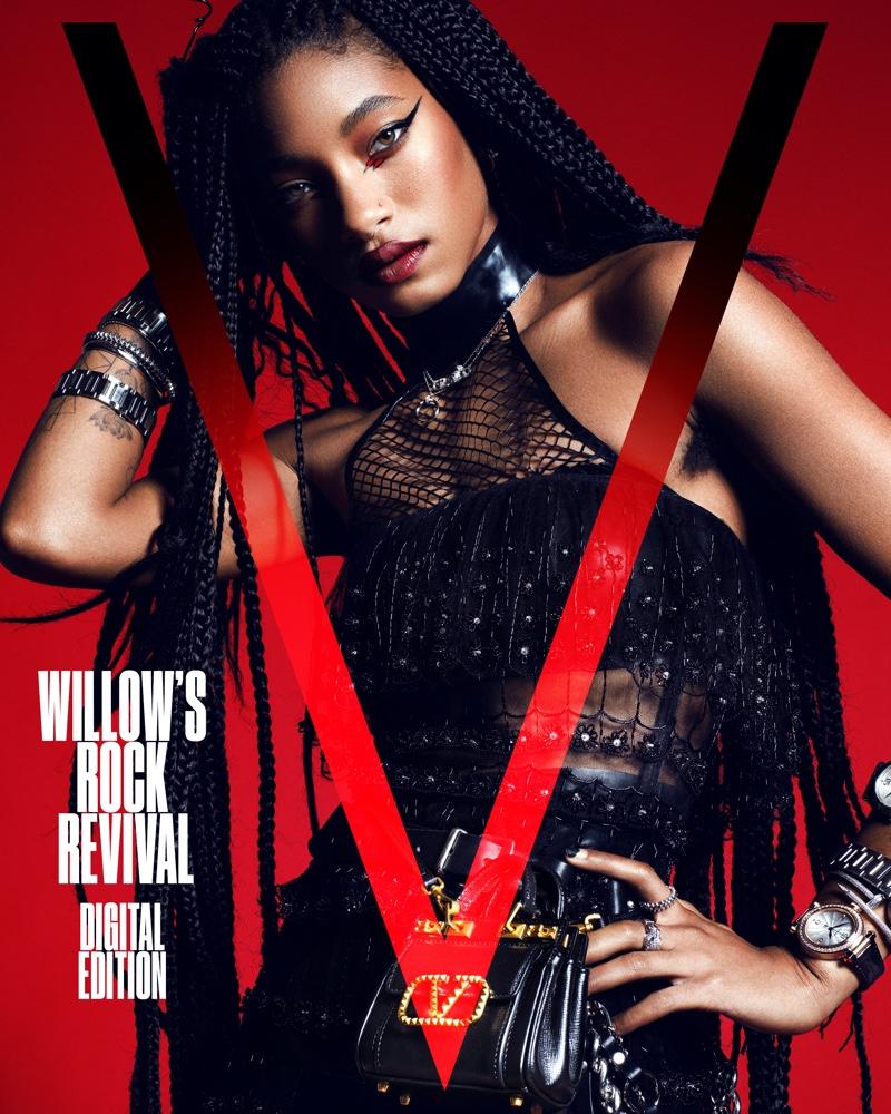Willow Smith on V Magazine Digital 2021 Cover. Image: Courtesy of V Magazine / Domen & Van de Velde