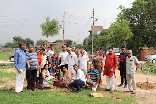 युवा शक्ति संगठन एवं RWA ने मिलकर 1500 पेड लगाने का लिया संकल्प :नरेश कटारिया