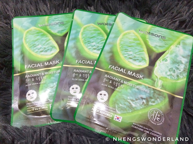 Watson's Facial Mask on Radiant & Moisturizing Aloe Vera Juice
