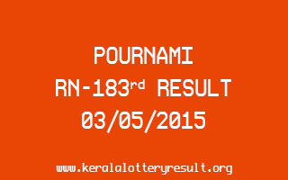 POURNAMI RN 183 Lottery Result 3-5-2015
