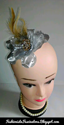 Silver wedding fascinators in Kenya
