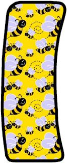 Abecedario de Abejas en Fondo Amarillo. Yellow Alphabeth with Bees.
