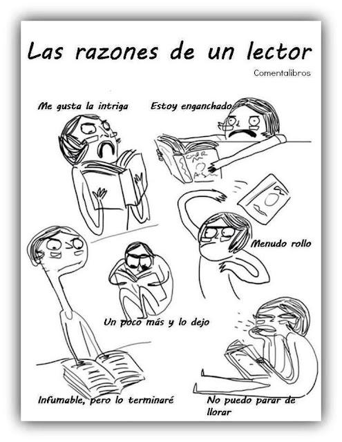 Meme de humor sobre la lectura