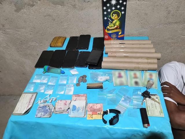 Polícia apreende bolos, fogos de artifício e detém suspeitos de promoverem 'aniversário' de facção criminosa no RN