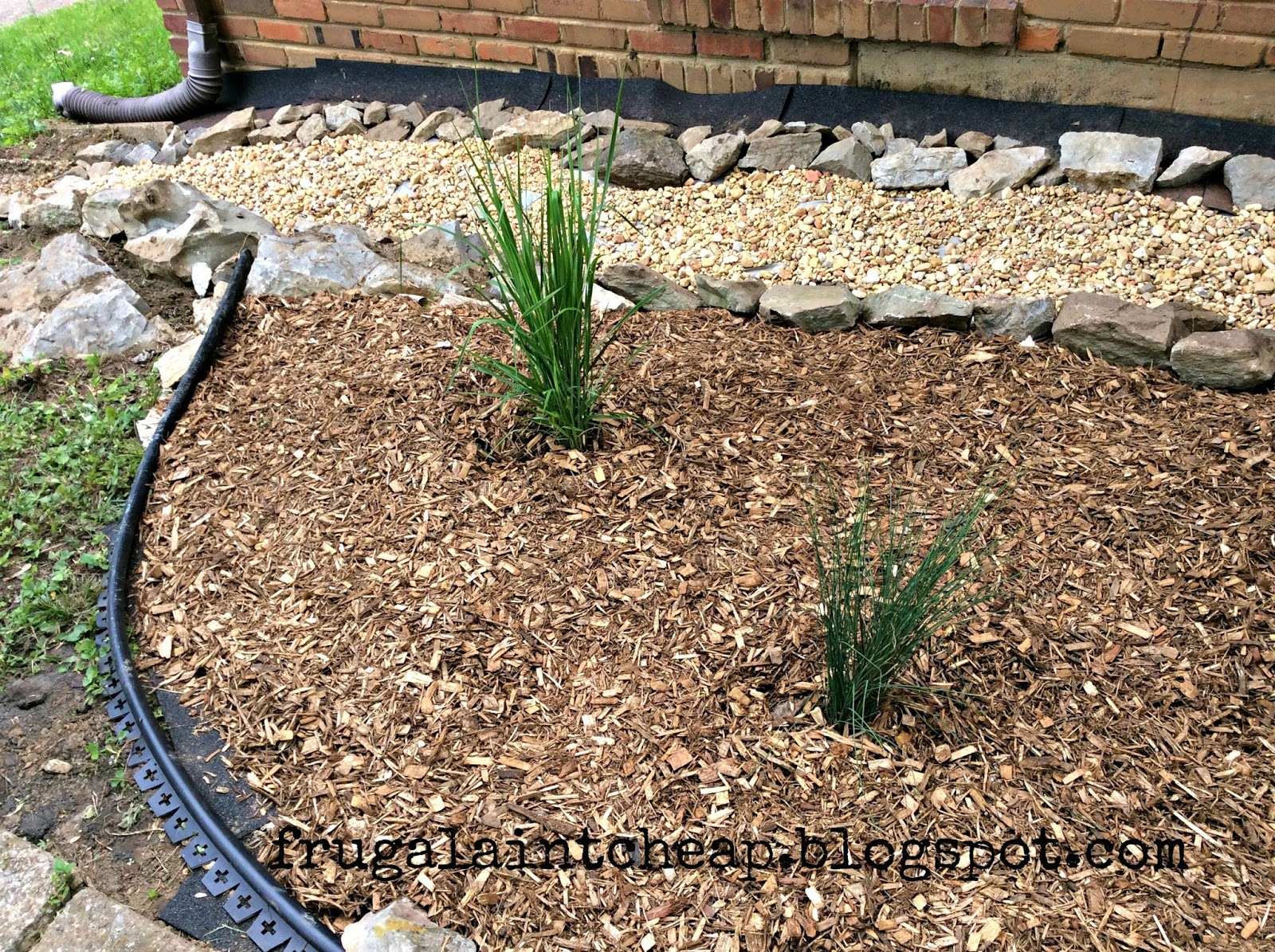 Frugal Ain\'t Cheap: Dry Creek Bed Landscape