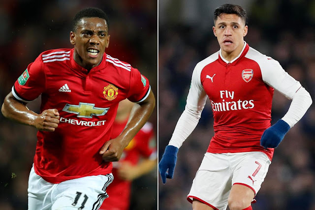 "Unhappy Anthony Martial ""wanted to discuss a move to Arsenal"" as part of Alexis Sanchez swap deal"