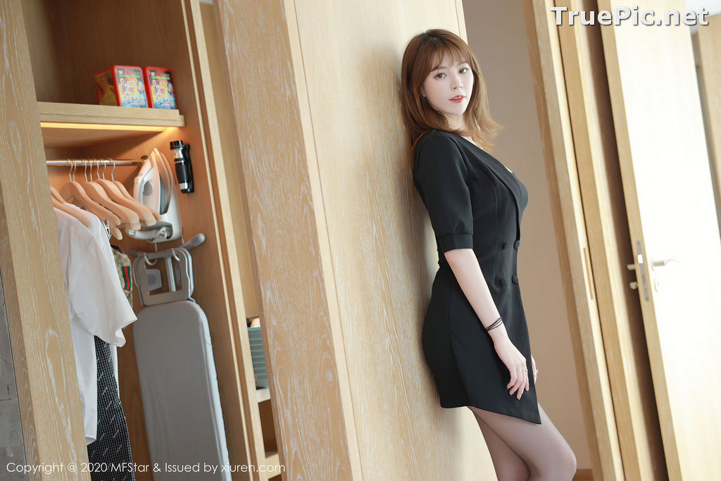 Image MFStar Vol.405 - Chinese Model - Yoo优优 - Hot Woman in Black - TruePic.net - Picture-6