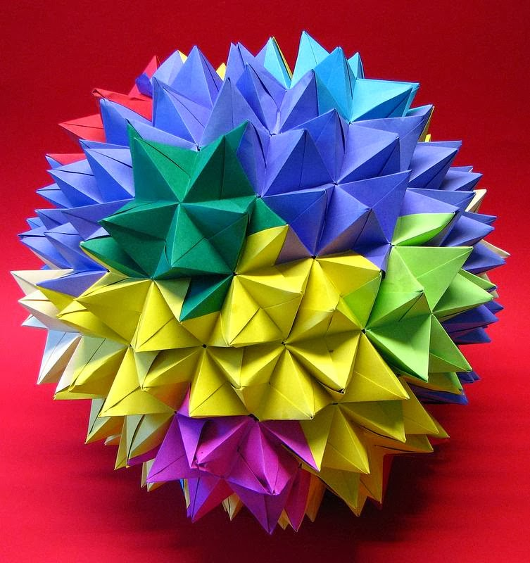 Mini Kusudama Pink Flower Ball | Paper flowers craft, Origami ... | 800x753