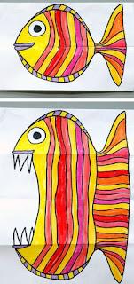 draw-kids-fish-رسومات اطفال ابداعية للسمكة