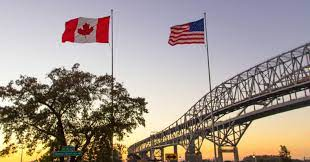 Flag of USA and Canada.