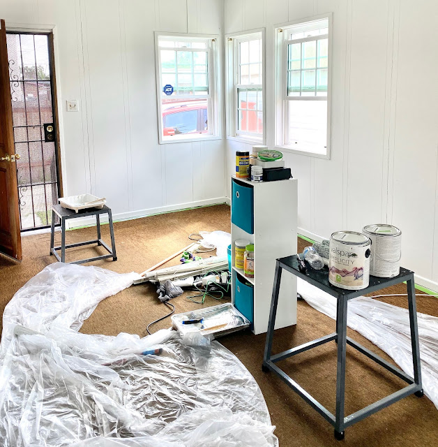 My She Shed Before and After + Tips for DIY Room Remodel on a Budget