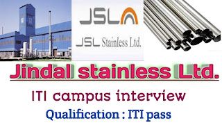ITI Job Campus Recruitment For Company Jindal Steel Group  at Govt. ITI Patiala, Panjab on 26th February 2021