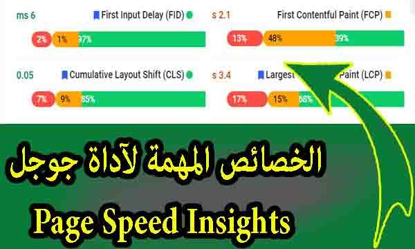 شرح الخصائص المهمة ( FID , LCP, CLS , FCP ) لآداة جوجل Page Speed Insights