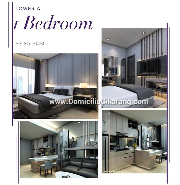 Interior Design Apartemen Domicilio Cikarang Tipe 1 BR