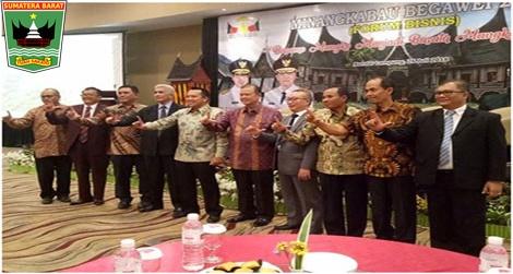 "Wagub Nasrul Abit :forum bisnis Minangkabau dengan tema "" Basamo Mangko Manjadi, Basatu Mangko Kakuek"
