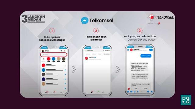 Tutorial Facebook Chat Tanya Veronika Virtual Asisten Telkomsel
