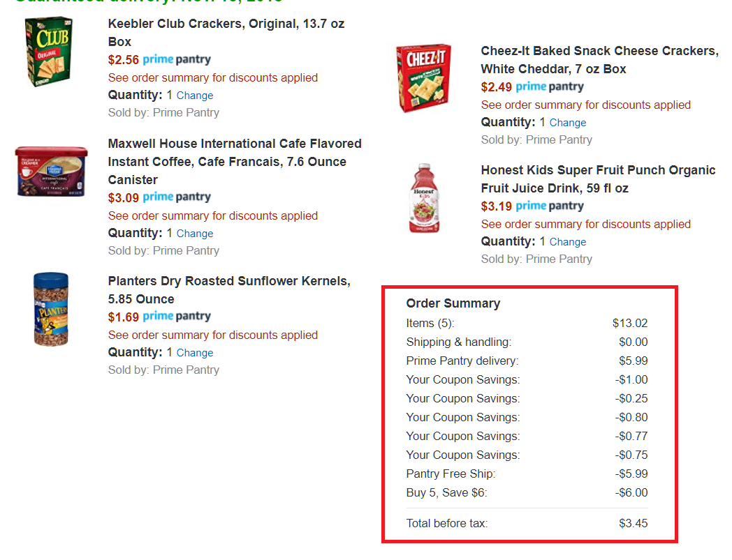 Amazon Prime Pantry Stacking Deals!! Extra $6 Off When You
