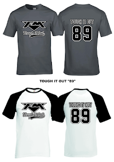 "FM - ""Tough It Out 89"" T-shirt and baseball T-shirt"