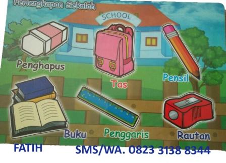 Puzzle Kayu Perlengkapan Sekolah