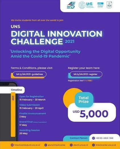UNS DIGITAL INNOVATION CHALLENGE 2021