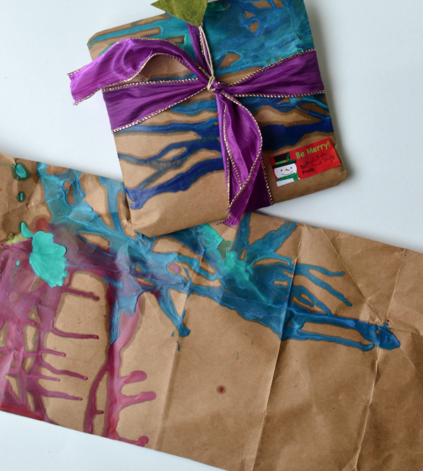 DIY recyclable brown wrapping paper